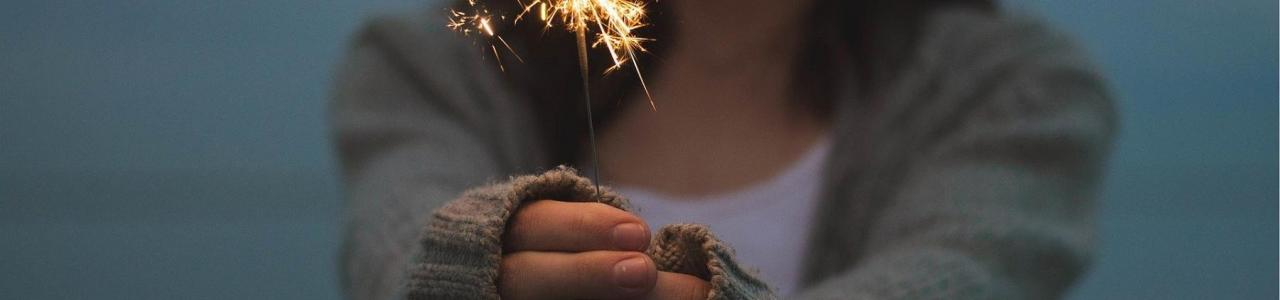 Sparkler - lighting up the way